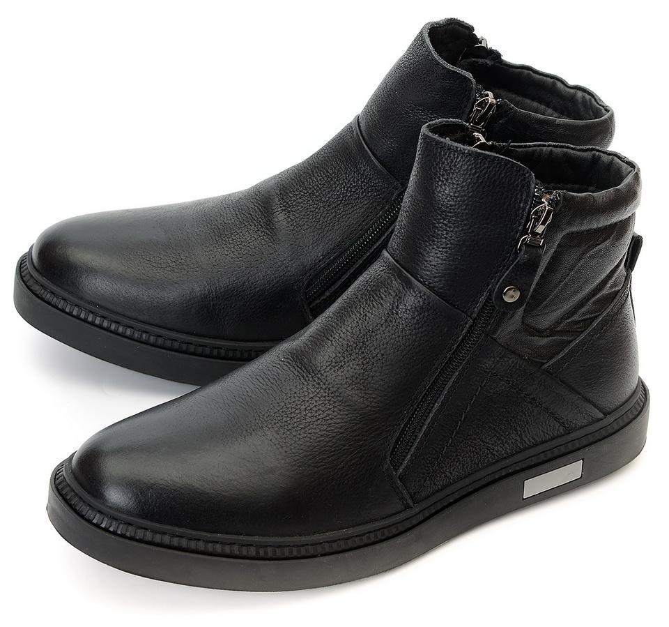 мужские ботинки натуральная кожа натуральный мех gugu германия