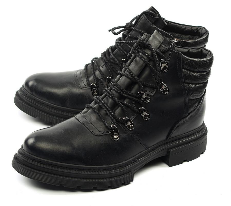 мужские ботинки натуральная кожа / натуральный мех gugu германия
